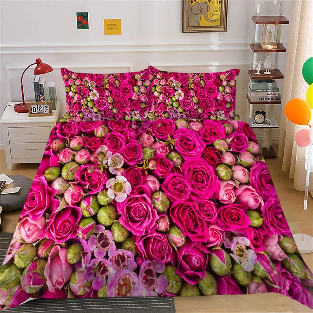 Bedding Set 3D Tulips Single Tulsa Mall Very popular Double King-Size a Beautiful Bed