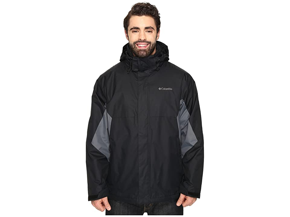 Columbia Big Tall Eager Air Interchange Jacket (Black/Graphite) Men