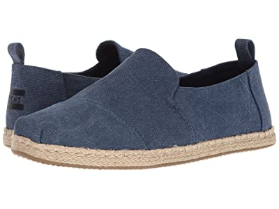 TOMS Deconstructed Alpargata Rope (Navy Washed Canvas) Men