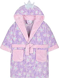 MiniKidz Girls Plush Fleece Fairy Princess Dressing Gown