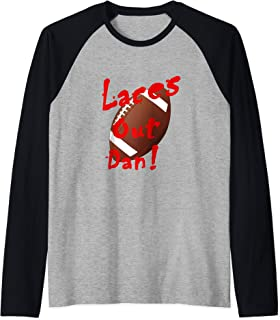 Laces Out Dan! funny football field goal kicker design Raglan Baseball Tee