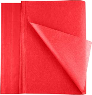 FEPITO 100 Sheets Christmas Tissue Paper Gift Wrapping Red Paper Tissue Paper for Xmas Wrapping Presents, Crafts(14 x 20 I...