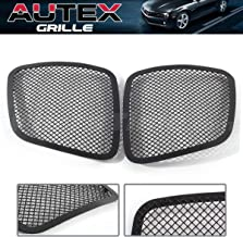 AUTEX Black Main Upper Mesh Grille Grill P75545H Compatible with Pontiac Solstice 2006 2007 2008 Main Upper Grill Insert