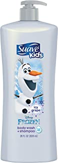Suave Kids 2n1 Body Wash & Shampoo, Disney Frozen Olaf Icy Grape, 28 Fl Oz (Pack of 1)