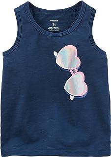 Carter's Girl's Sunglasses Tank Top; Navy (3 Months)