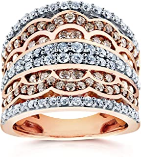 Champagne Diamonds Fashion Ring 1 1/2 CTW in 10K Rose Gold