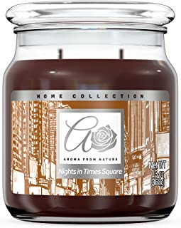 Aroma From Nature Nights in Time Square 13 oz Home Collection Scented Candle - 1 Pack - Aromatherapy Candles - Home Fragra...