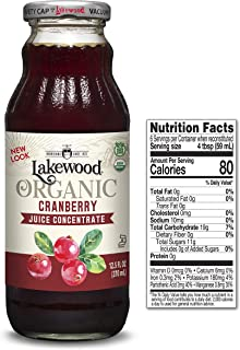 Lakewood Organic Cranberry Concentrate Juice, 12.5 Ounce (Pack of 6)