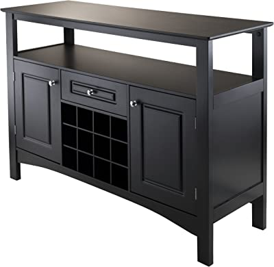 Amazon Com Home Styles Bermuda Buffet And Hutch Brushed