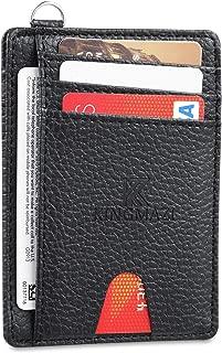 Slim Minimalist Front Pocket RFID Blocking Wallets, Credit Card Holder with D-Shackle for Men Women VIBOOS