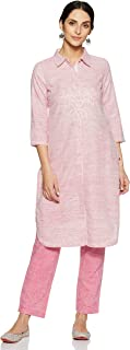 BIBA Women's Cotton Straight Salwar Suit Set
