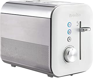 Breville VTT686 High Gloss 2-Slice Toaster with Variable Browning and High Lift, White