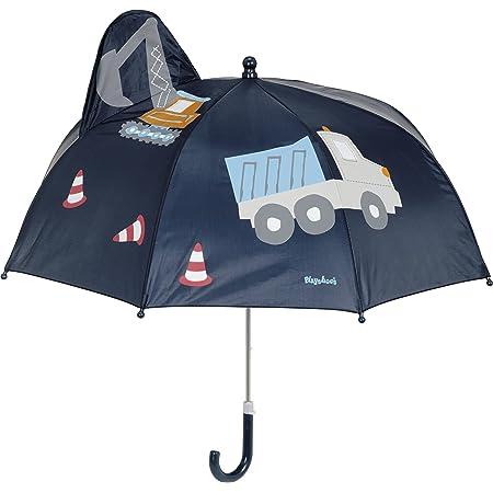 Playshoes 3D Regenschirm Baustelle Parapluie, Bleu (Marine 11), Taille unique Garçon