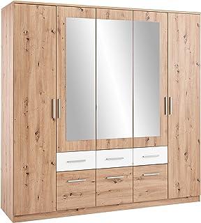 Tutto il legno massiccio armadio a due ante camera da letto moderna sottogruppo di stoccaggio minimalista in legno di pino originale guardaroba semplice,Pine