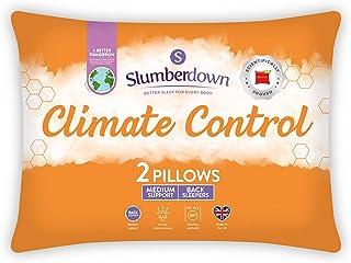 Slumberdown Pillow, Microfibre, White, 2-Pack