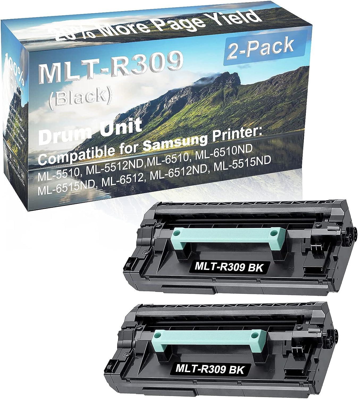 2-Pack Compatible MLT-R309 Drum Kit use for Samsung ML-5510, ML-5512ND,ML-6510 Printer (Black)
