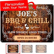 Grill Sign Custom, Rustic Background, Father's Day Gift, 10x14 Inches, Rust Free .040 Aluminum, Fade Resistant, Easy Mount...