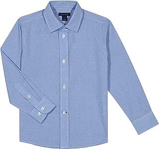 Boys Long Sleeve Cross Gingham Dress Shirt
