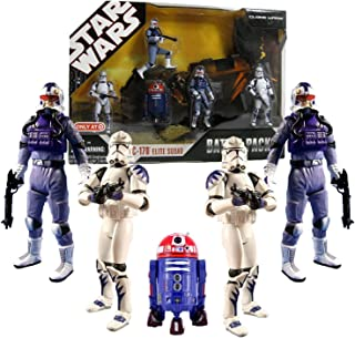 Star Wars 30th Anniversary Battle Pack ARC 170 ELITE SQUAD with 5 Action Figures Exclusive Purple R2 Astromech Droid R4-C7