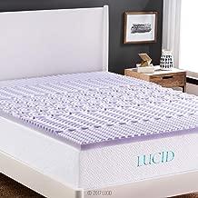 LUCID 2 Inch 5 Zone Lavender Memory Foam Mattress Topper - Queen