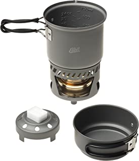 Esbit CS985HA 5-Piece Lightweight Trekking Cook Set with Brass Alcohol Burner Stove
