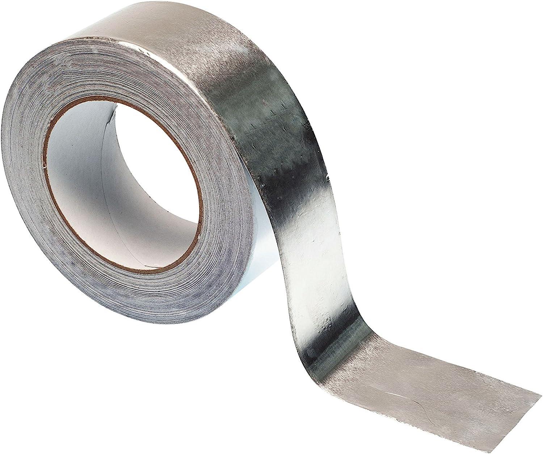 Gocableties - Cinta adhesiva de aluminio (50 m x 48 mm, alta calidad, resistente), plateado: Amazon.es: Bricolaje y herramientas