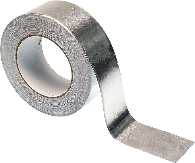 Cinta Adhesiva de Aluminio cinta aislante Resistencia a altas temperaturas Conductivo Reparaciones R/ápidas 50mx20mm Plata cinta autoadhesiva Cinta de aluminio alta calidad