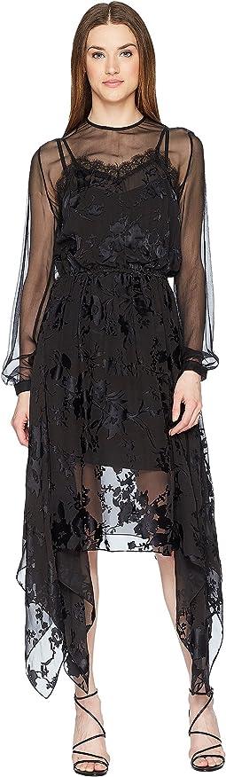 Preen by Thornton Bregazzi Angeli Dress w/ Jersey Black Slip