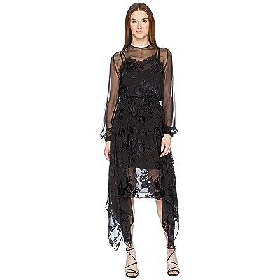 Preen by Thornton Bregazzi Angeli Dress w/ Jersey Black Slip (Black) Women