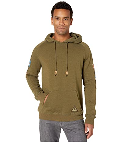 tentree Route Hoodie (Olive Night Green Heather) Men