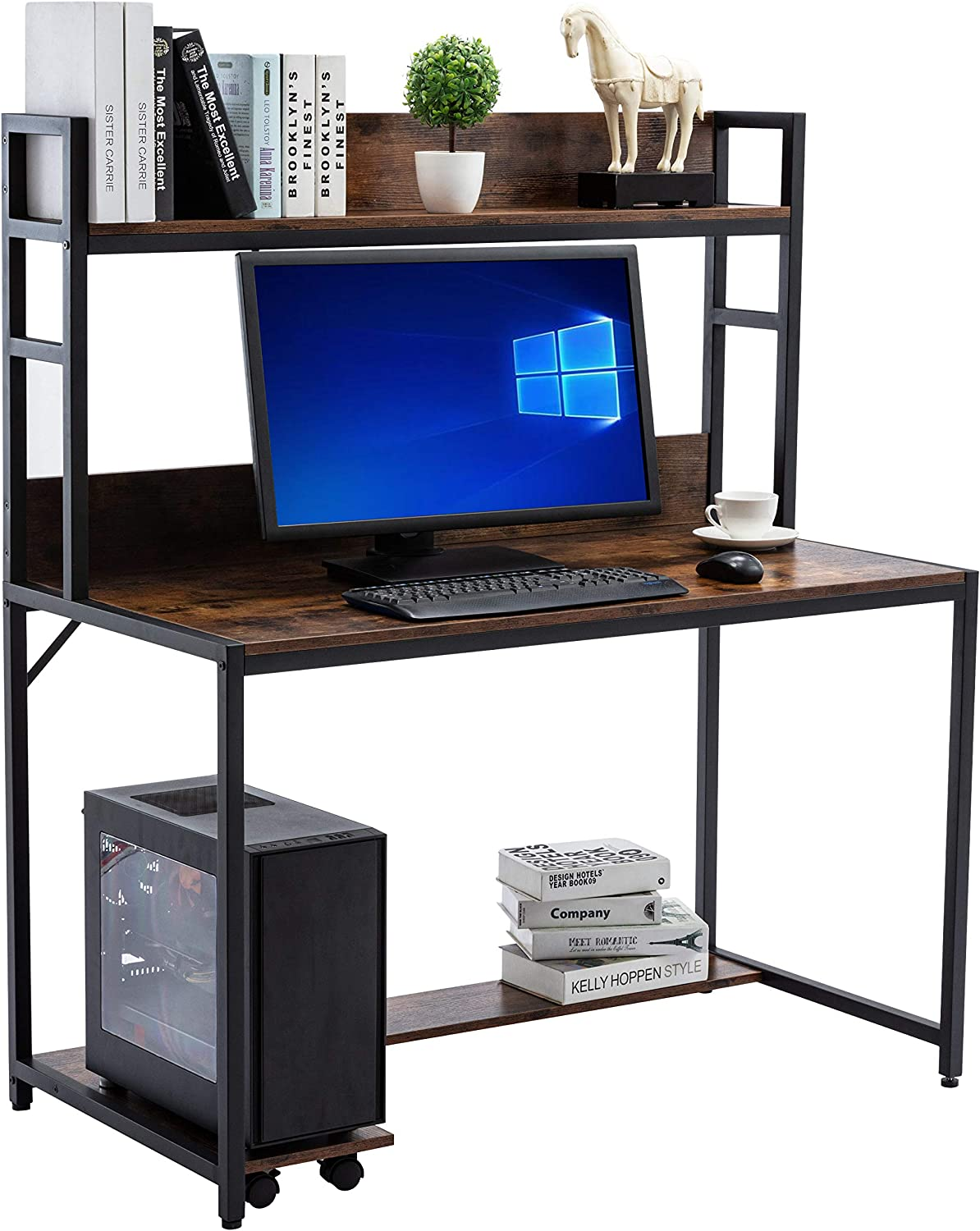"""Sale price 47"""" Computer Desk Ranking TOP20 with Storage W Study Home Office Shelves"""
