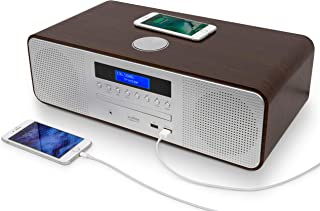 AUDIBLE FIDELITY Complete Hi-Fi DAB/DAB+ Stereo System CD Player with Speakers, Wireless Charging & USB Charging, Bluetoot...