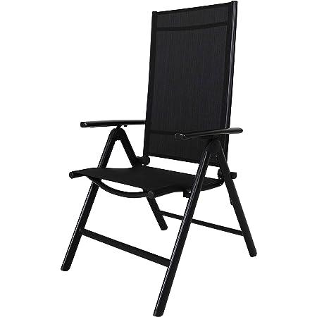 Chicreat High-Back Folding Camping Chair, Black, Aluminium