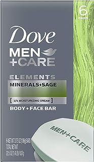 مردان کبوتر + مراقبت از بدن و نوار صورت ، مواد معدنی + مریم گلی 4 اونس ، 6 بار