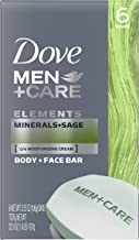 Dove Men+Care Body and Face Bar, Minerals + Sage, (Each 6 Count of 3.75 oz Bars) 22.5 oz