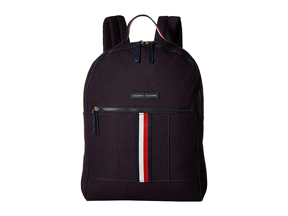 Tommy Hilfiger Flag Corporate Canvas Backpack (Navy) Backpack Bags
