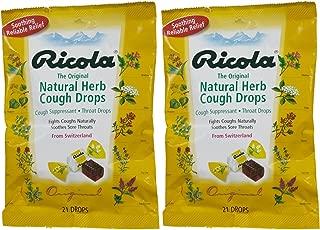 Ricola Original Herb Cough & Throat Drops, 21 ct, 2 pk