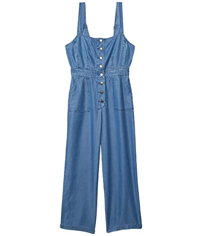 BB Dakota Head Over Heels Indigo Lyocell Jumpsuit (Medium Blue) Women