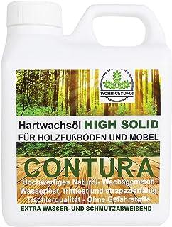 1 Liter Contura HARTWACHSÖL Premium High Solid Holzöl Parkettöl Fussbodenöl Möbelöl Wachs Holzwachs Farblos anfeuernd Hartöl Holzschutz