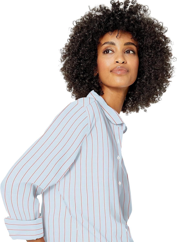 Brand Goodthreads Womens Lightweight Poplin Long-Sleeve Tie-Front Shirt