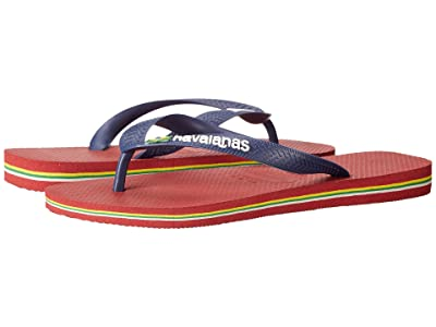 Havaianas Brazil Logo Flip Flops (Red) Men