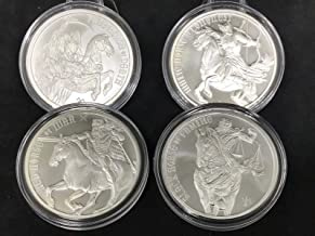 Four Horseman of the Apocalypse 4 Piece Full Set - .999 Fine Silver Rounds