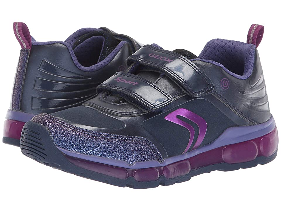 Geox Kids Android Girl 19 (Little Kid/Big Kid) (Navy/Purple) Girl