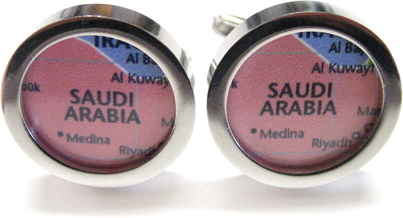 Saudi Arabia Map Cufflinks