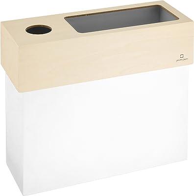 ヤマト工芸 ゴミ箱&ティッシュケース ホワイト ツインケース_「dust&tissue case CUBE」_日本製_YK15-006