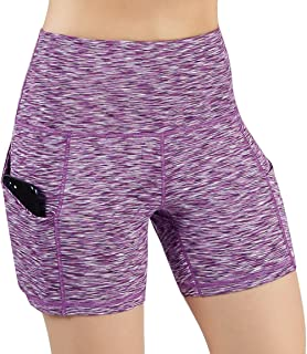 ODODOS High Waist Out Pocket Yoga Short Tummy Control...