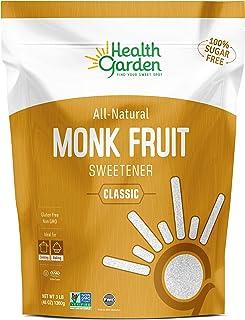 Health Garden Monk Fruit Sweetener, Classic - Non GMO - Gluten Free - Sugar Substitute - Kosher - Keto Friendly (3 lbs)