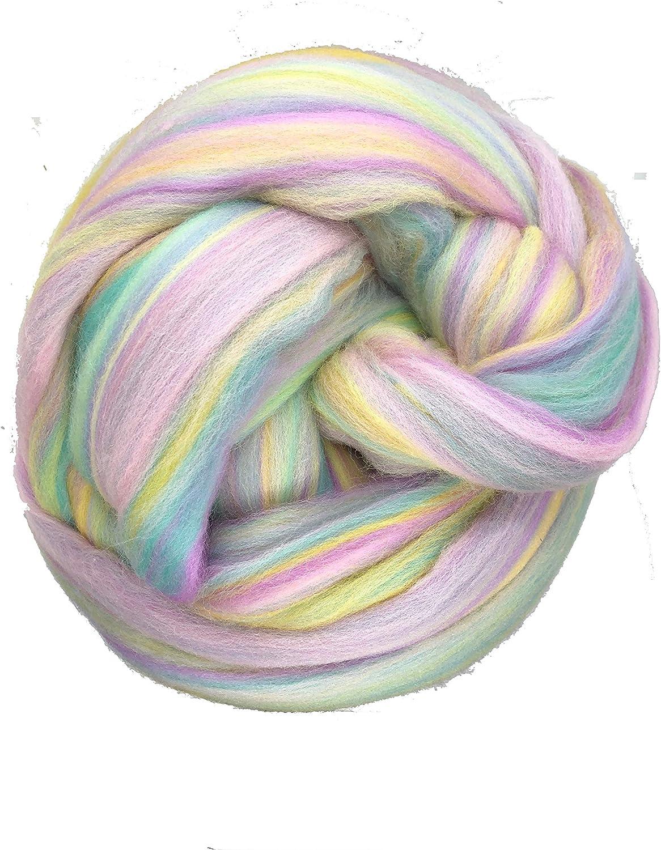 Shep's Pastel Rainbow Merino Wool Direct store Fel Roving Spinning depot Top Fiber