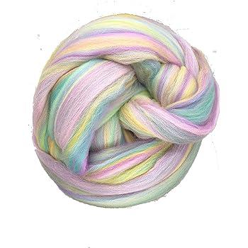 Pastel Lilac Shimmer-Mezcla de Lana Merino para aguja//hilado húmedo fieltrar /&