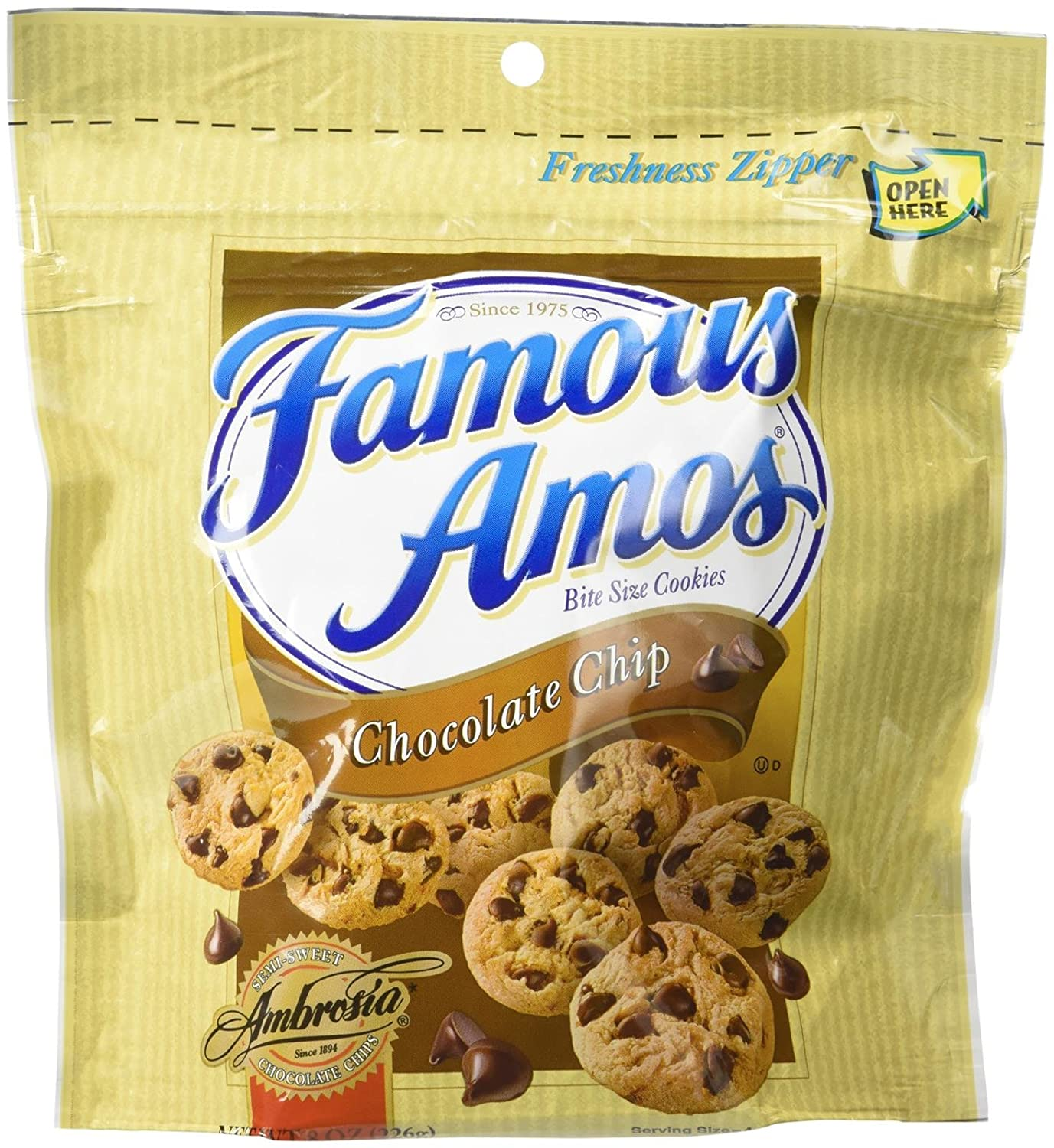 Famous Amos Chocolate Chip Cookies 8-Oz Bags (Pack of 2)